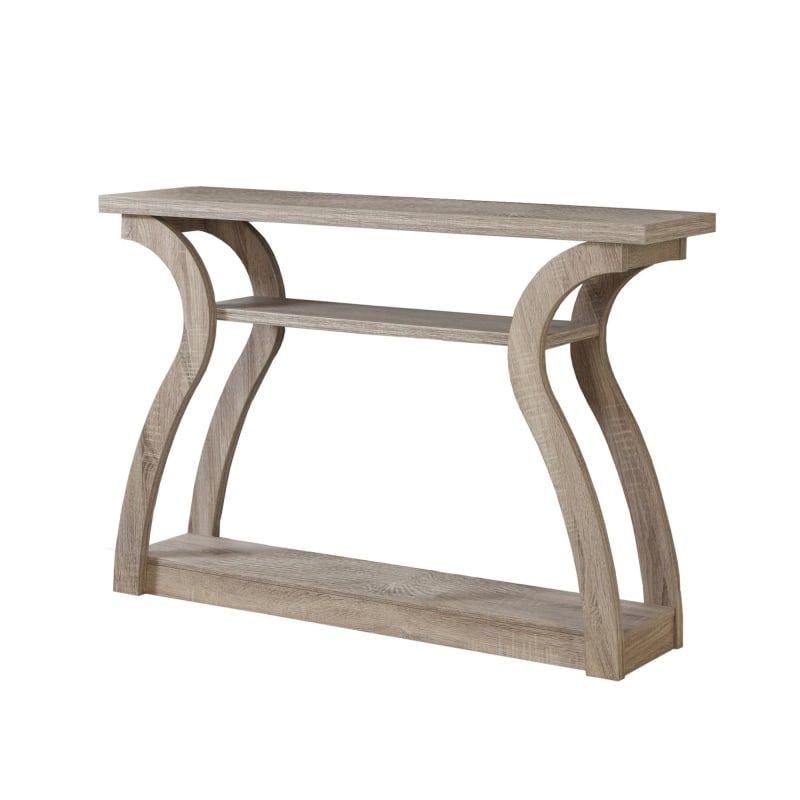 Monarch Specialties I 2446 Dark Taupe 47 Wide Contemporary Hall Console Table Modern Console Tables Hall Console Table Accent Side Table