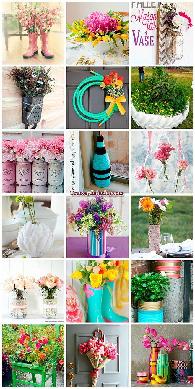 Manualidades de primavera jarrones centros de mesa y - Manualidades centros de mesa ...