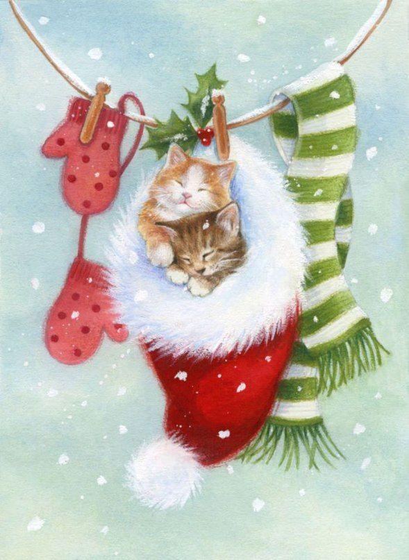 Групп, открытки с новым годом котенком