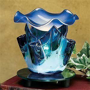 475 Inch Blue Marble Style Grain Tulip Electric Oil Burner Warmer This Is An Amazon Affiliate Link Visit The Im With Images Electric Oil Burner Oil Burners Blue Marble