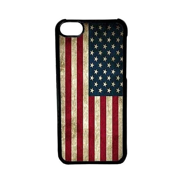 Cellpowercasestm Grunge Usa Flag Case For Iphone 5c Black Case 14 Aud Liked On Polyvore Flag Cases Iphone Cases Black Case