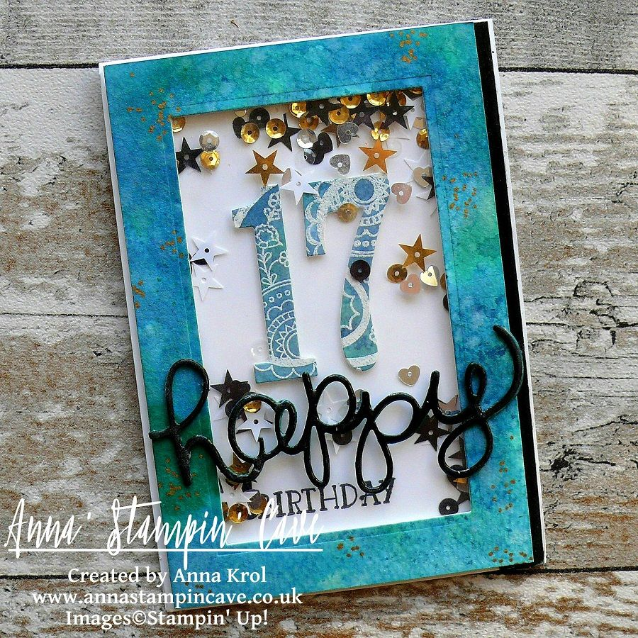 Shake It In Teals Birthday Card For Sweet 17 Cards Handmade Cards Birthday Cards