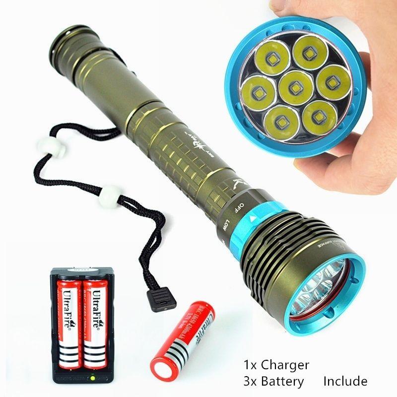 Us 119 99 10000lm Brightest 7 Of Xm L2 Bulbs Waterproof Cree Led Flashlight Torch Bright Led Flashlight Led Flashlight Cree Led