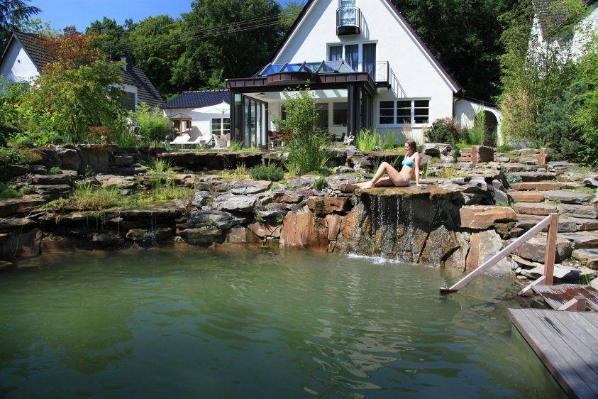 Natural stone swimming pool in bonn farm thoughts ponds - Swimming pool bonn ...