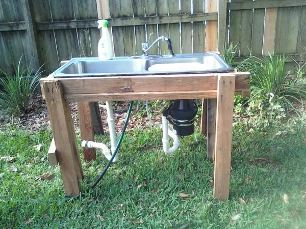 Perfect for clays fish cleaning station Garden sink that hooks up