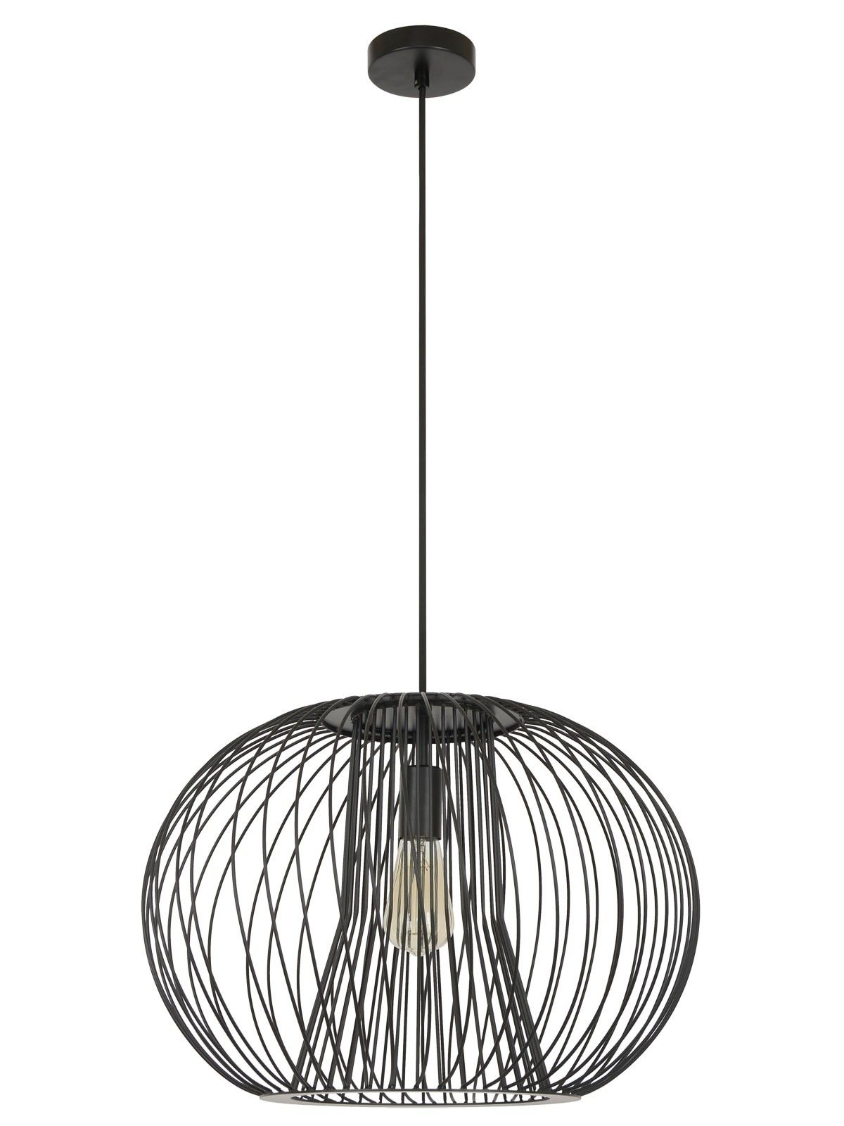 Pheonix 1 Light Pendant In Black In
