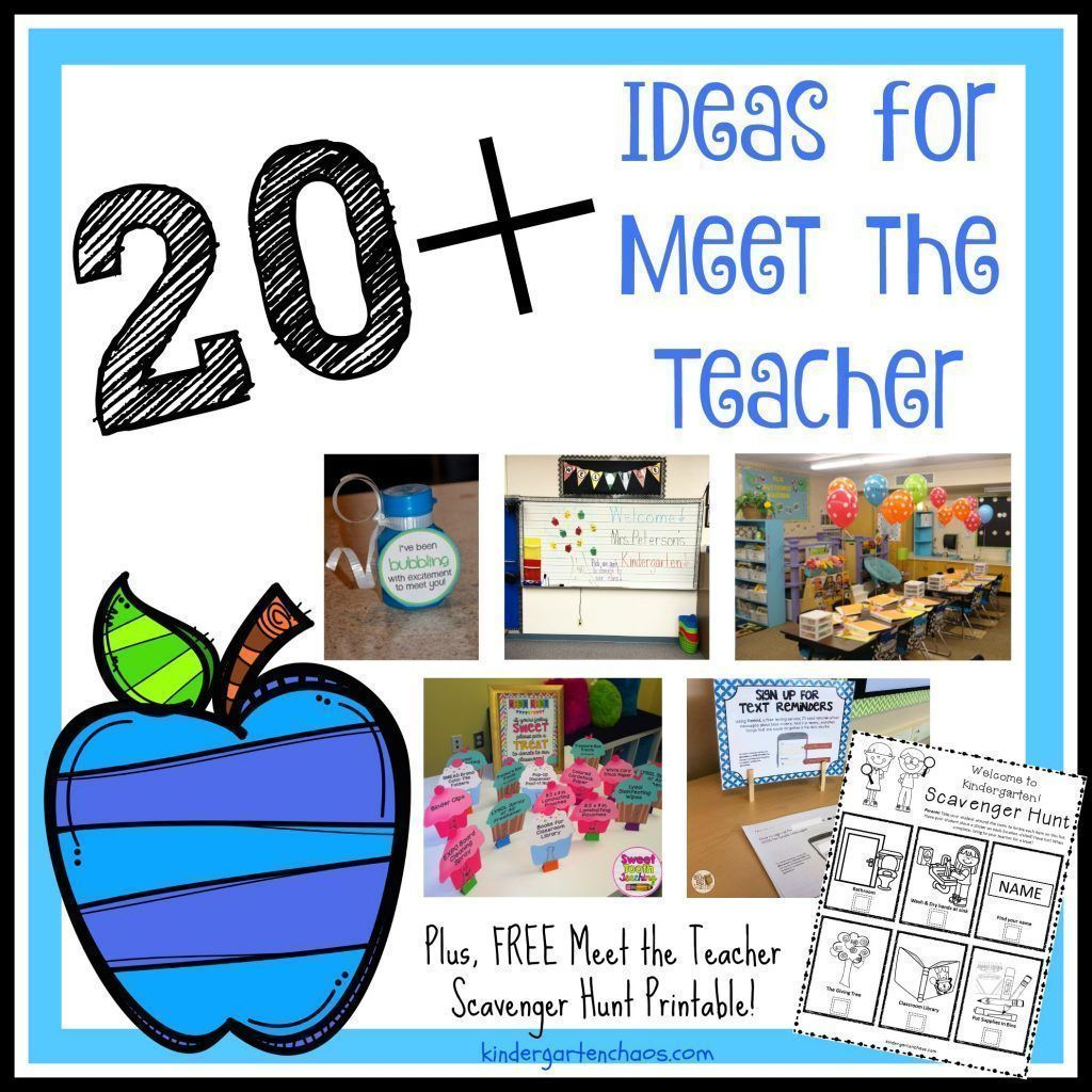 Meet The Teacher And Curriculum Night Ideas Pamphlets