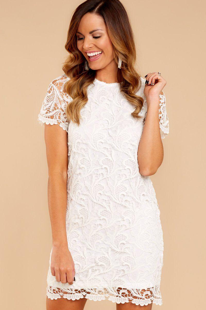 Cute White Dress   Chic Lace Dress   Dress   $18.18 – Red Dress ...