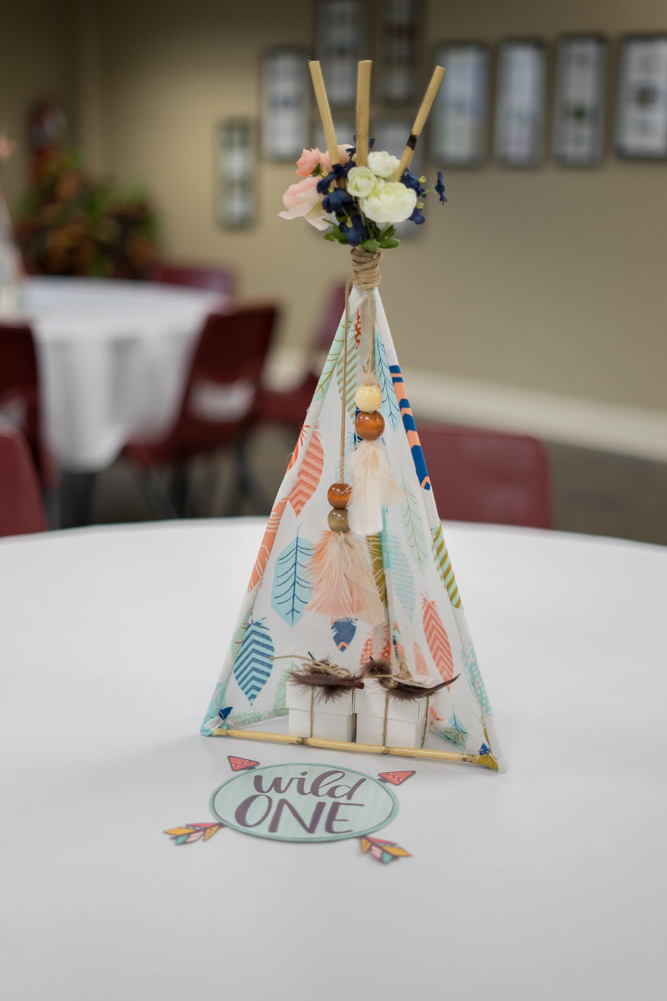 Teepee Table Toppers Boho Native American Tribal Indian Baby Shower