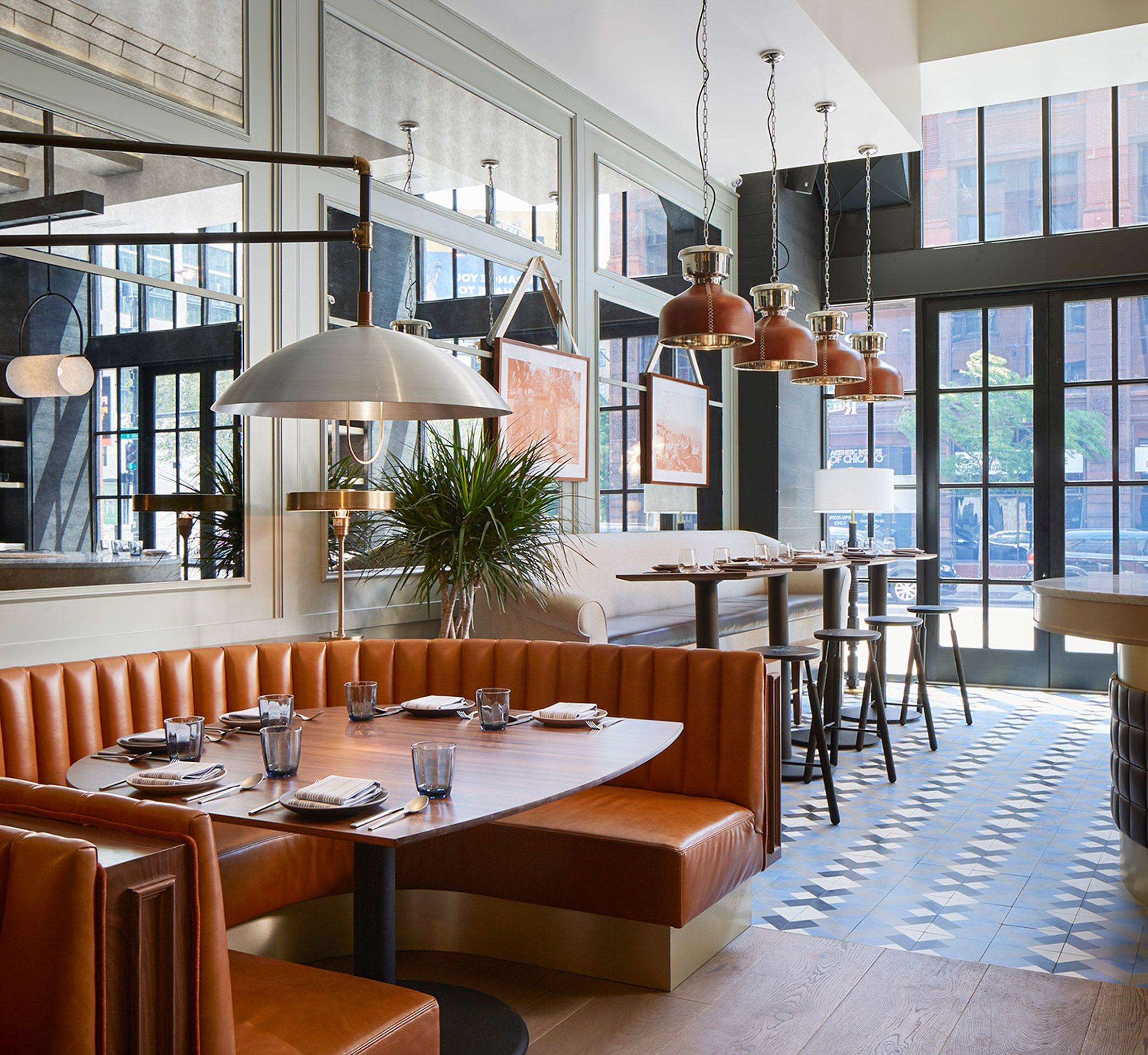 The Proxi restaurant occupies former printing house in Chicago ...