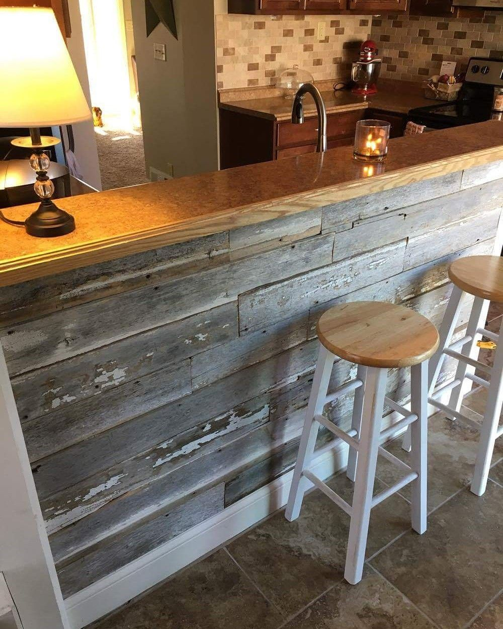 Idea By Rena Leblanc On House Goals Wood Kitchen Island Reclaimed Wood Kitchen Kitchen Bar
