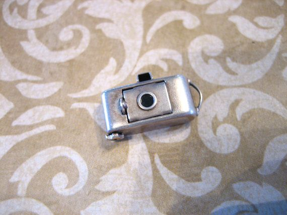 Vintage  40s Sterling Silver CAMERA Charm Moves by charmingellie, $24.00
