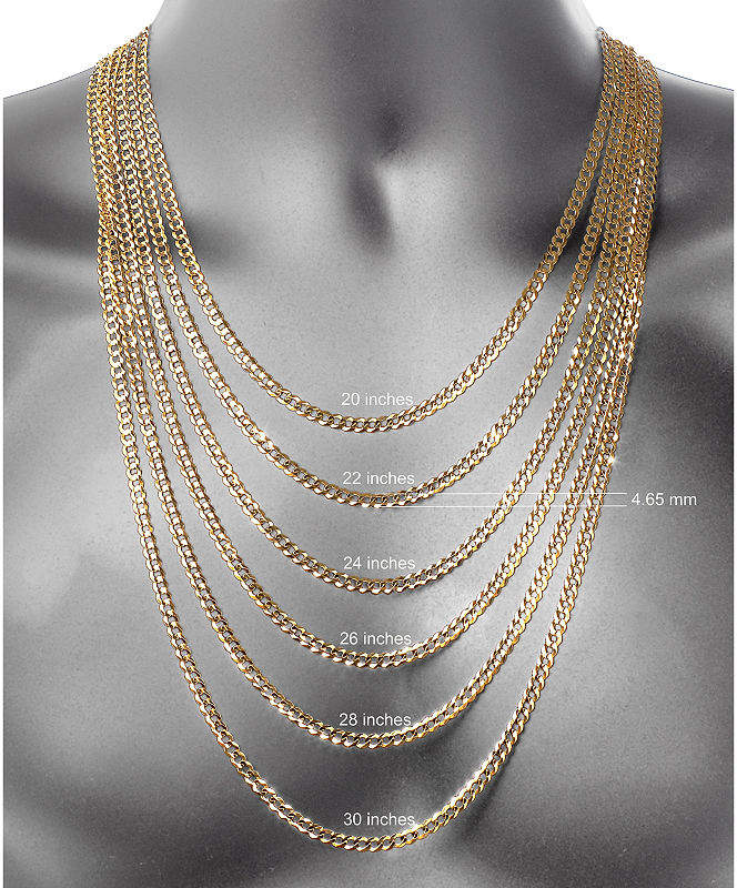 Fine Jewelry Made In Italy 10k Gold Hollow Figaro 24 Inch Chain Necklace Gold Chains For Men Chain Necklace Gold Rope Chains
