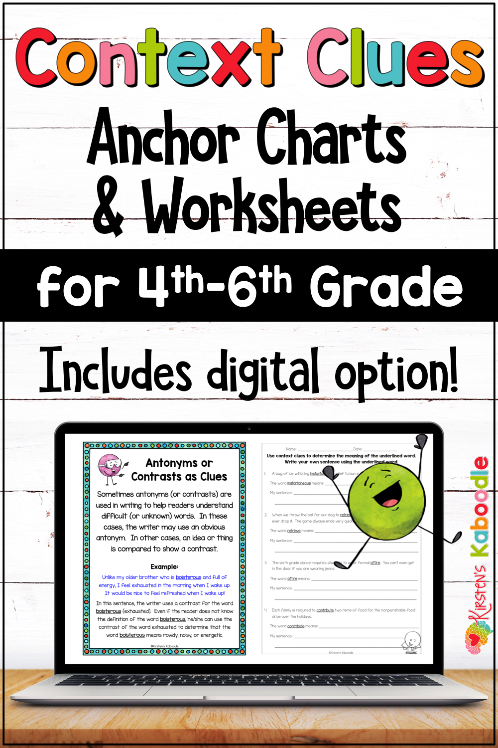 Context Clues Activities Worksheets and Anchor Charts for 4th [ 1500 x 1000 Pixel ]