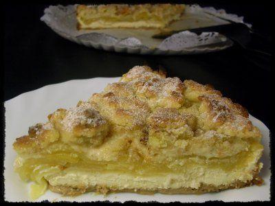 Receta de Tarta de Manzana con Crema de Queso