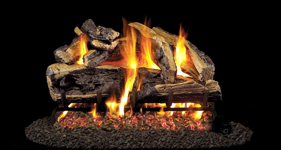 Real Fyre Gas Logs Charred Rugged Split Oak http//www
