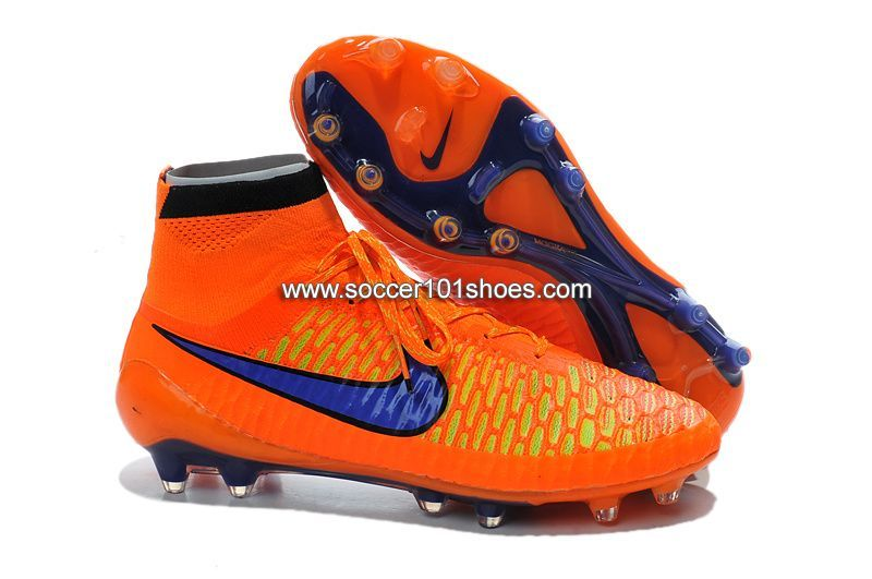 free shipping 95163 99dd0 Nike Mens Magista Obra FG with ACC Football Boots Hi Top Soccer Cleats  Orange Blue  77.00