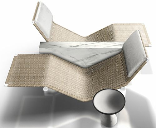 Chaise longue by Kreoo – Vis a Vis