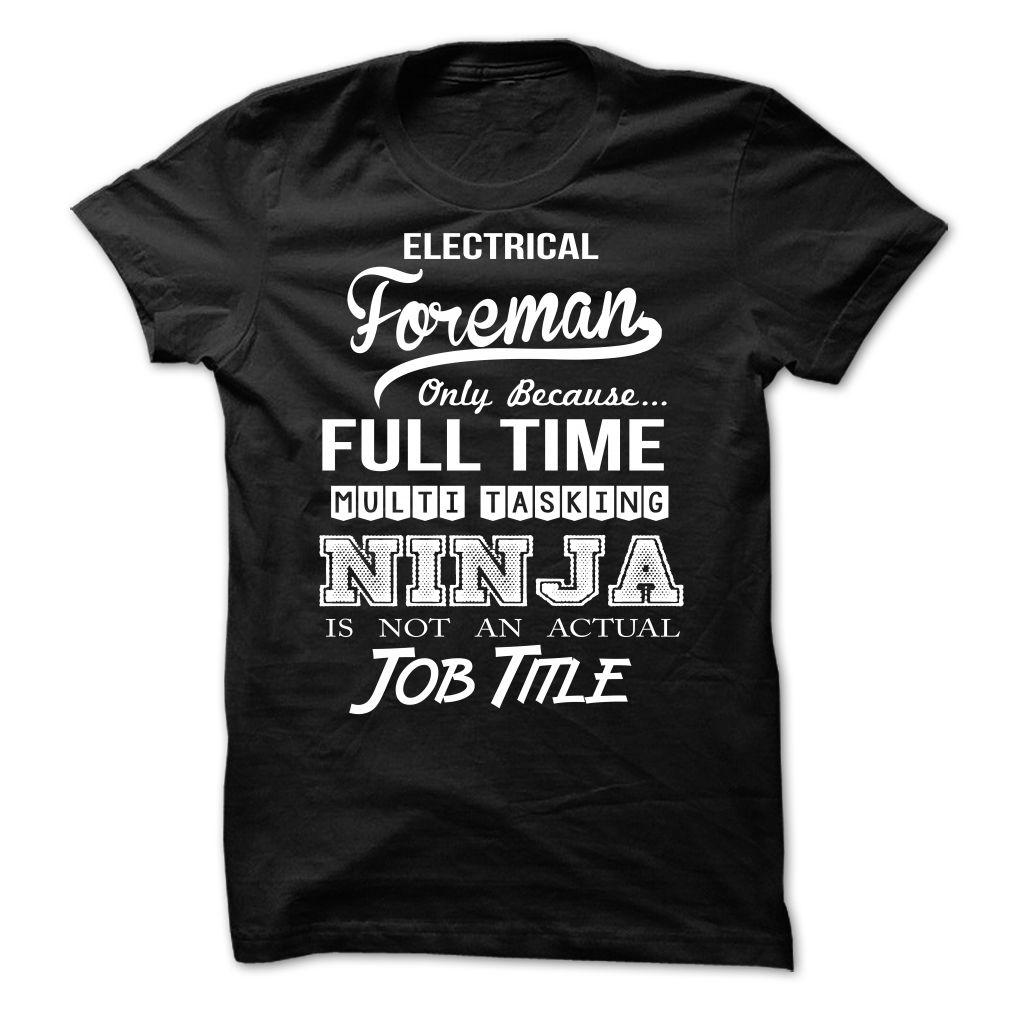 Electrical Foreman T SHIRT & HOODIE (Có hình ảnh) Áo