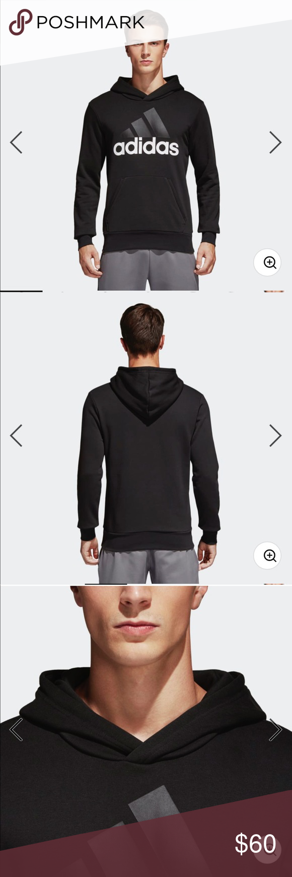 Adidas Essentials lineal Pullover Hoodie NWT Pinterest