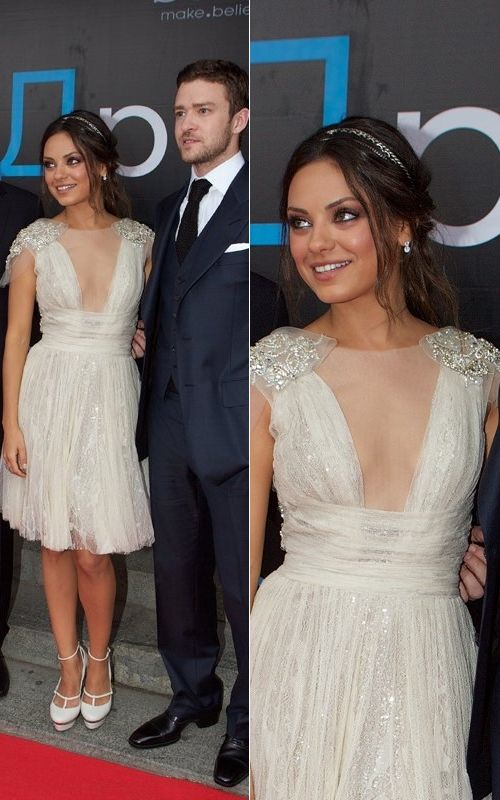 Mila Kunis wore this beautiful dress on A red carpet but you can wear something similar on your civil ceremony!