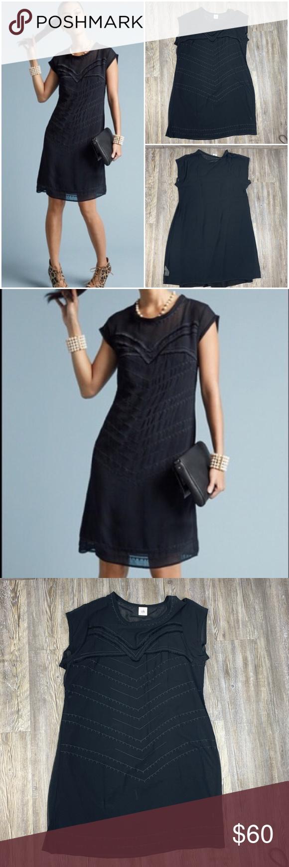Cabi Dress Up Sheer Black Dress Size L Black Sheer Dress Dress Up Black Dress [ 1740 x 580 Pixel ]