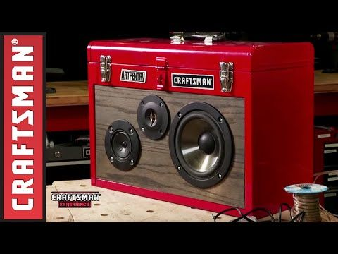 how to: make a portable stereo from an old toolbox | computer - cell ...