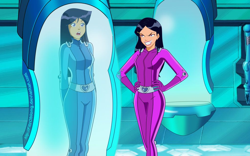 Girls from totally spies porn toon playing with their