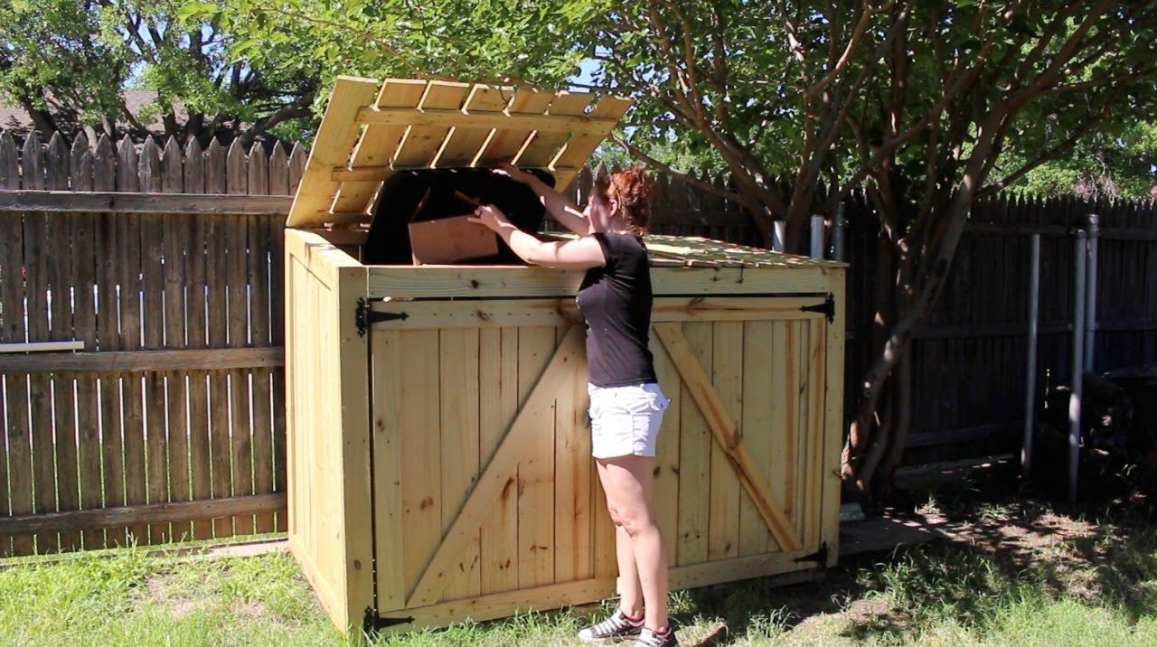 Building A Garbage Can Enclosure Part 2 Shed Plans Building A Shed Shed Storage
