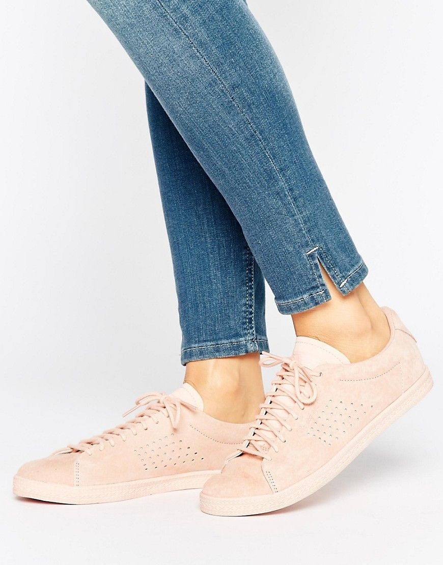 072ae42e1824 LE COQ SPORTIF PINK NUBUCK CHARLINE SNEAKERS - PINK.  lecoqsportif  shoes