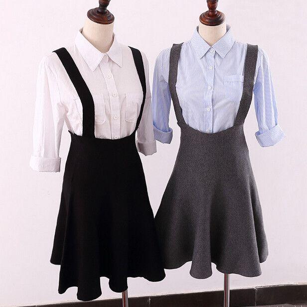Fashion knitted suspenders skirt Cute Kawaii Harajuku Fashion - clothing sponsorship