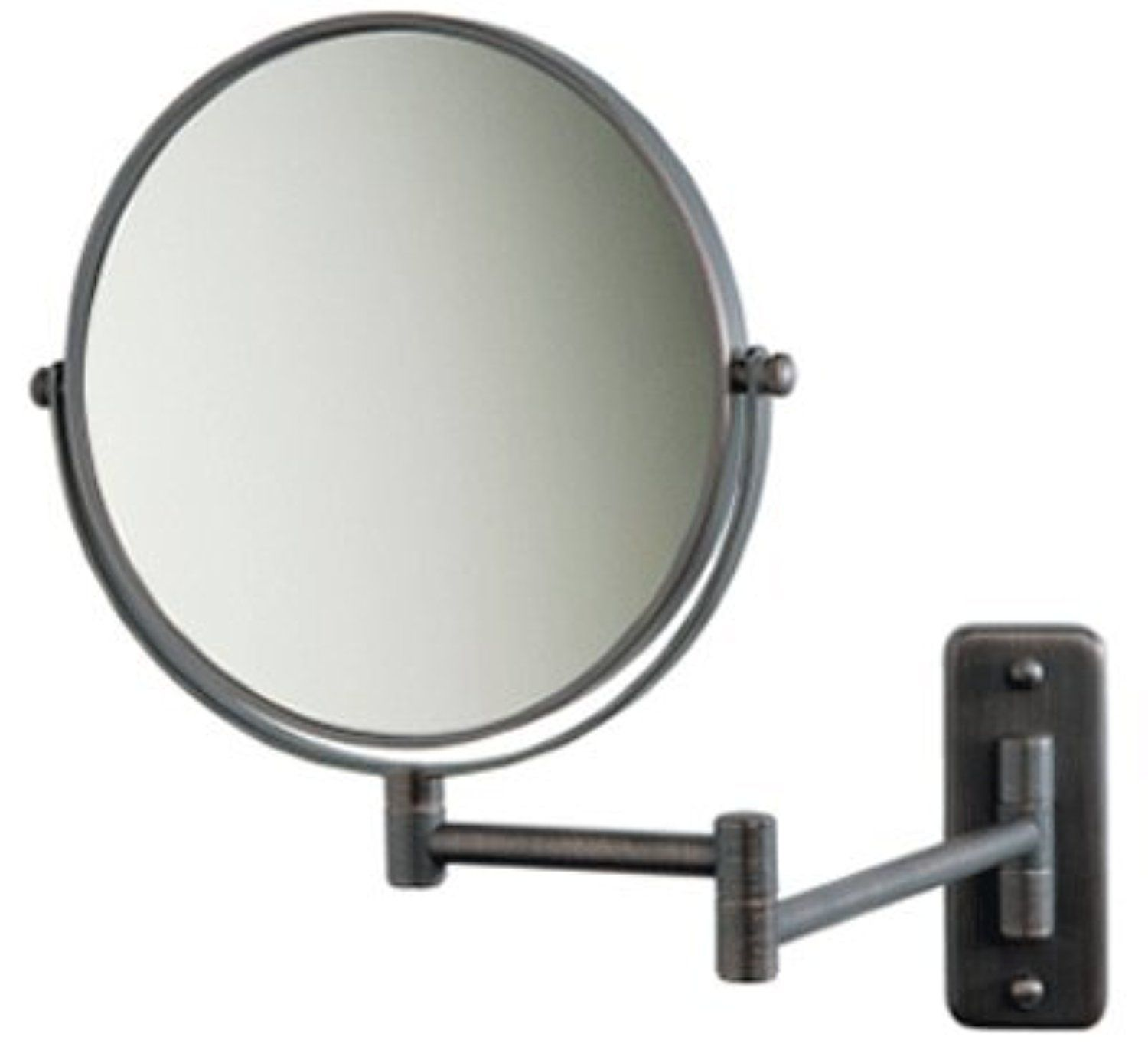 Jerdon 8 Makeup Vanity Mirror Oil Rubbed Bronze Dual Arm Wall