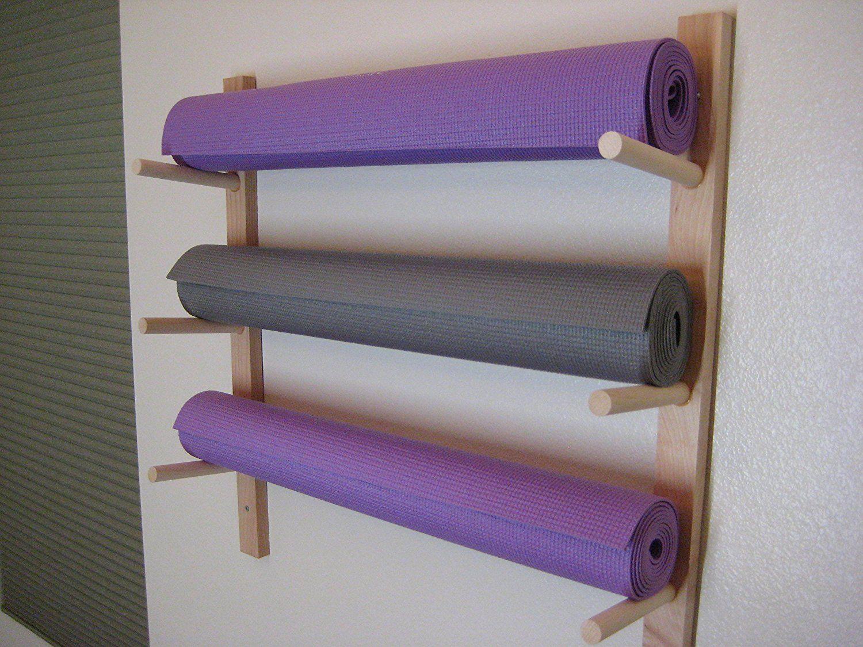 fullxfull handmade edtf mats storage rack shelfhandmade shelf yoga mat il holder gallery photo listing