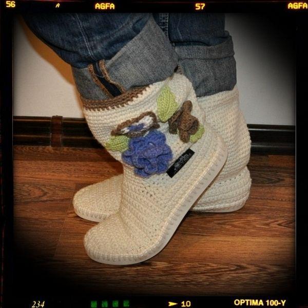 Crochet Stiefel Sommerstiefel Frau Hippie Volks | Sommerstiefel ...