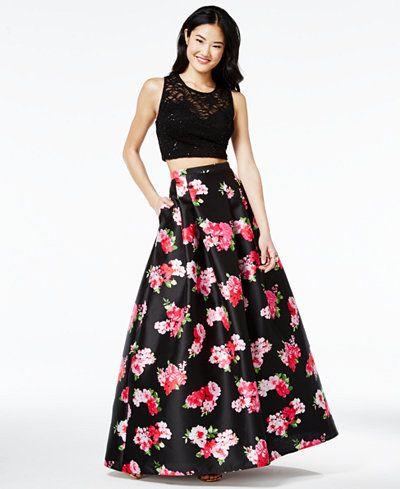 B darlin black dress formal