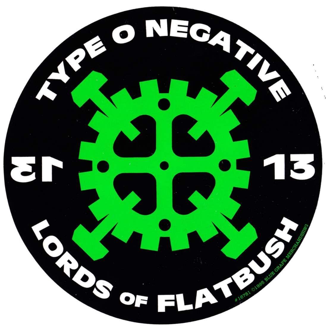Type O Negative Hammer Gear Sticker Jpg 1100 1100