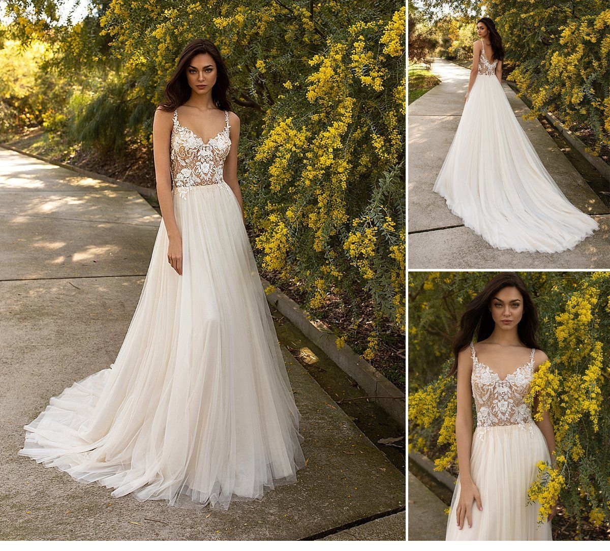 Pronovias Garden Wedding Bridal Dresses 2020 Www Amberandmuse Com Bridal Dresses Pronovias Bridal Wedding Bridal