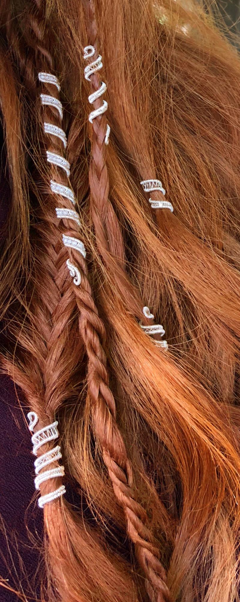 b0d89a0100 Custom made hair cuffs great for braids or dreads | Beautiful ...