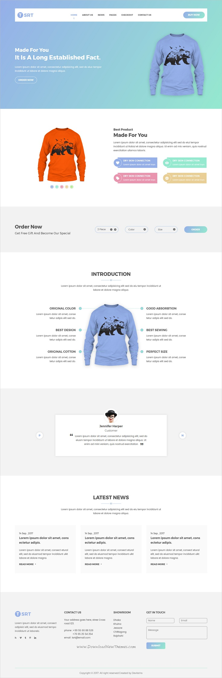 Tsrt Is Clean And Modern Design Responsive HTML Template For Single - Single product ecommerce template