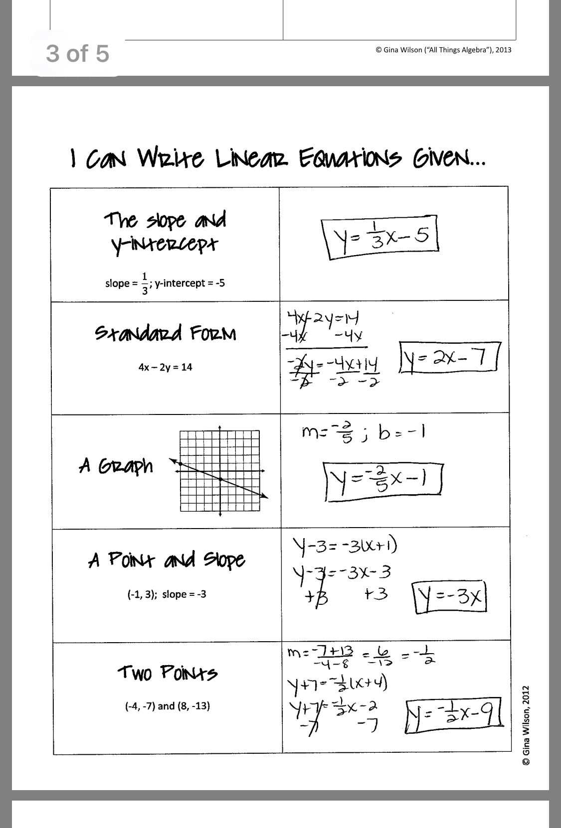 Pin By Lois Whitney On Linear Equations