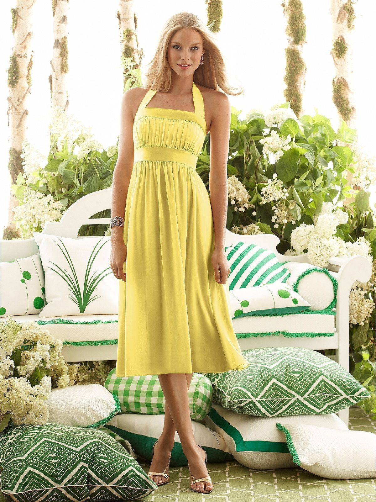 Sunflower Bridesmaid Dresses Yellow Bridesmaid Dresses Tea Length Bridesmaid Dresses Beach Bridesmaid Dresses [ 1601 x 1200 Pixel ]