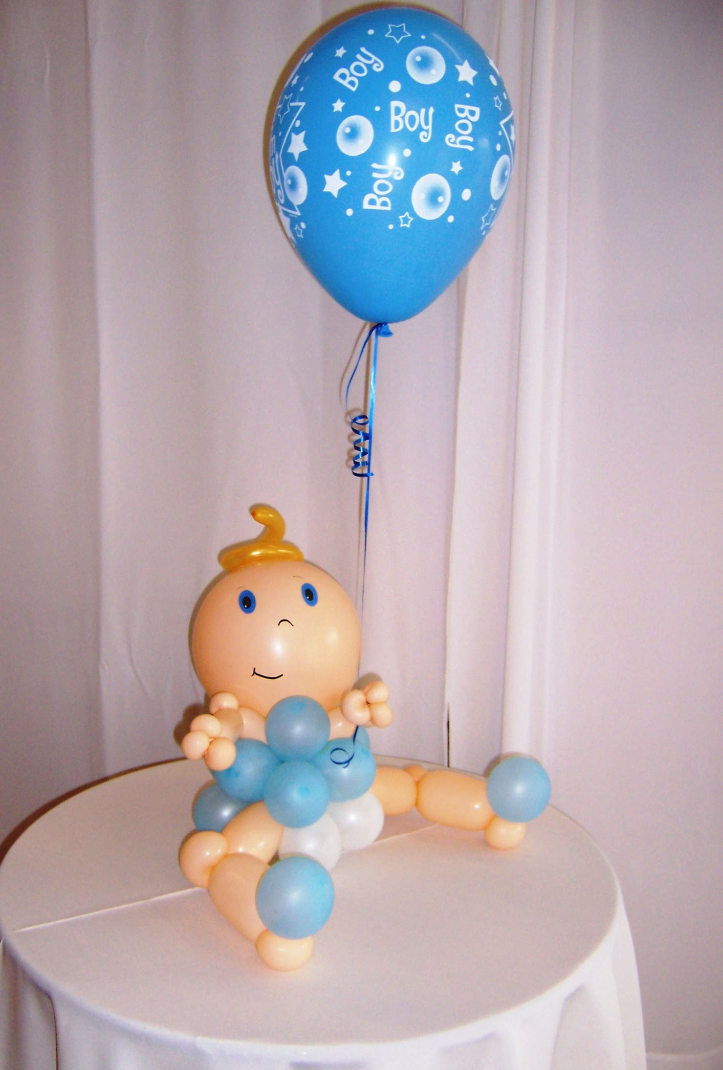 Balloon baby centerpieces cutie pie pacifier