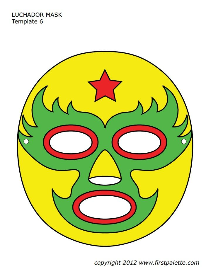 luchador mask template nacho libre party pinterest halloween