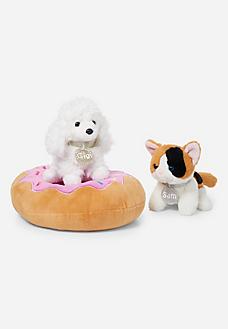 Pet Shop Donut Round Bed Pet Toys Pet Shop Cute Stuffed Animals