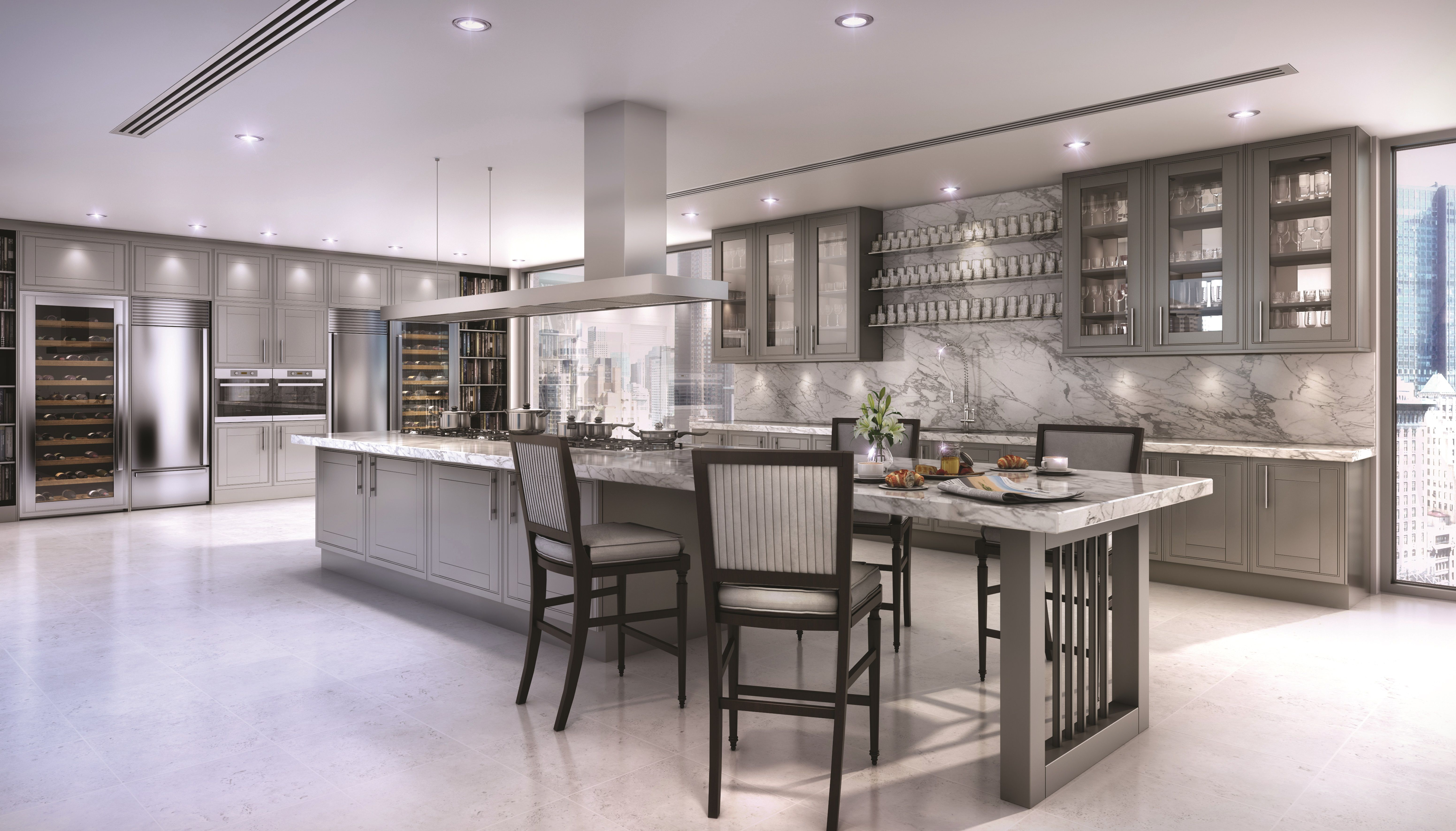 clive christian contemporary kitchen finished in grey clive christian kitchens modern kitchen on l kitchen interior modern id=67776
