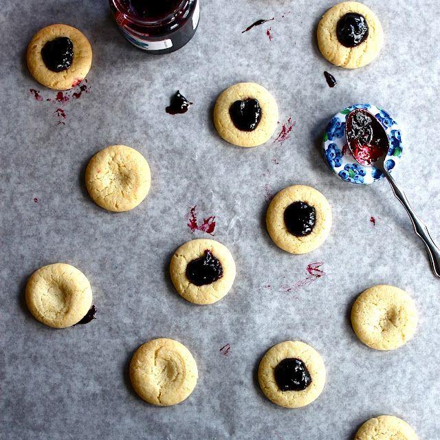 Goat cheese thumbprint cookies