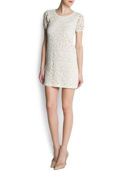 MANGO - CLOTHING - Dresses - Guipure dress