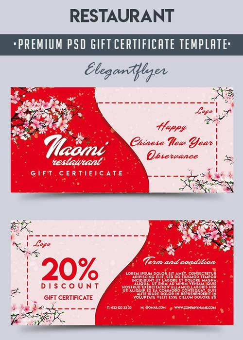 restaurant gift certificate template free download
