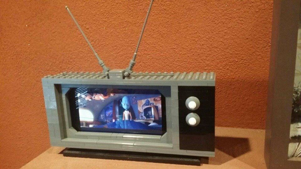 Tv Phone Holder By B Coover Lego Craft Lego Activities