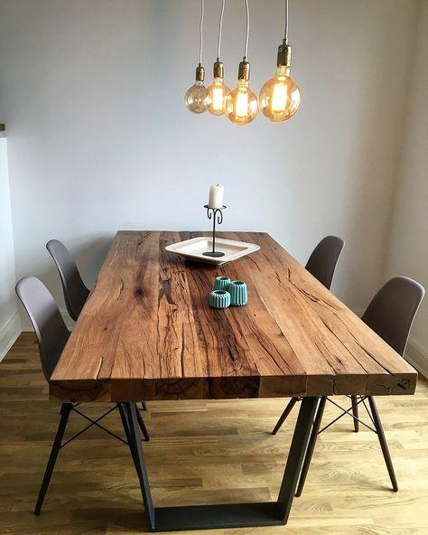 Holzwerk Hamburg esstisch massivholztisch aus eichenholz altholz tischgestell aus